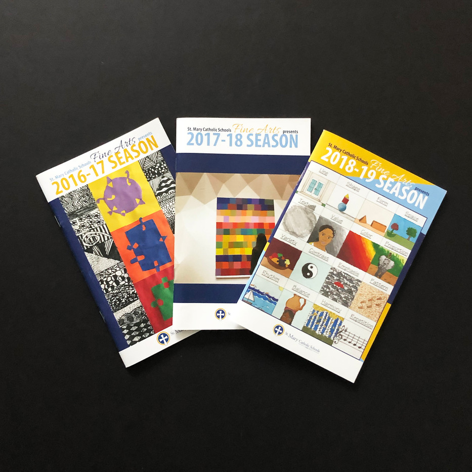 St. Mary's High School Fine Arts Booklets