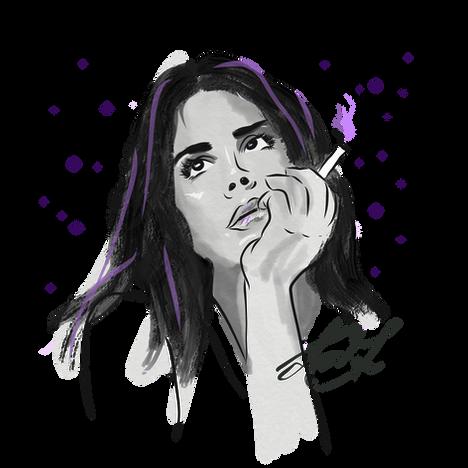 Lana Del Rey Drawing