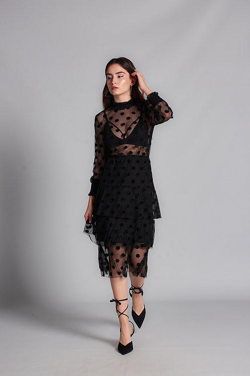 Puantiyeli Elbise - 0118