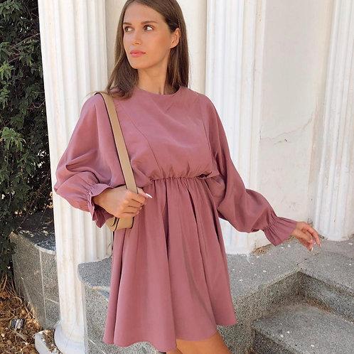 Yarasa Kol Geniş Kesim Mini Elbise - 51 K
