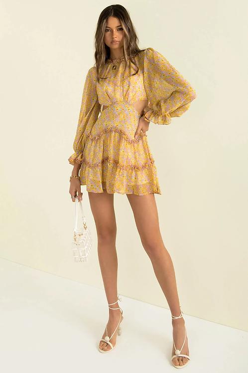 Sırt Dekolteli Gloplu Elbise