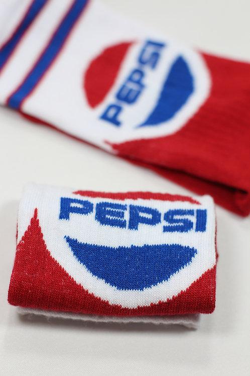 Unisex Kırmızı Pepsı Coke Uzun Spor Çorap C123