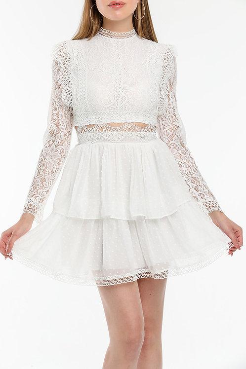 Güpür Detay Elbise - 76