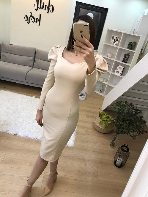 Kol Detay Tasarım Elbise - 0105