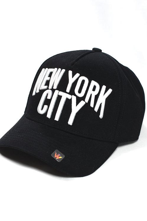 Unisex New York City One Size Siyah Şapka