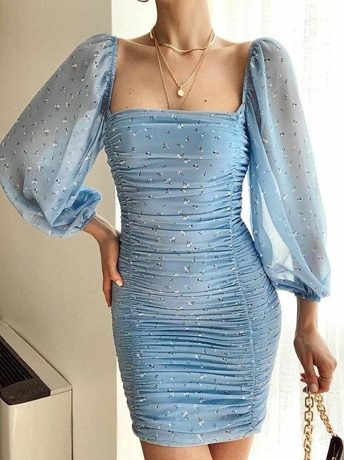 Büzgülü Mini Elbise