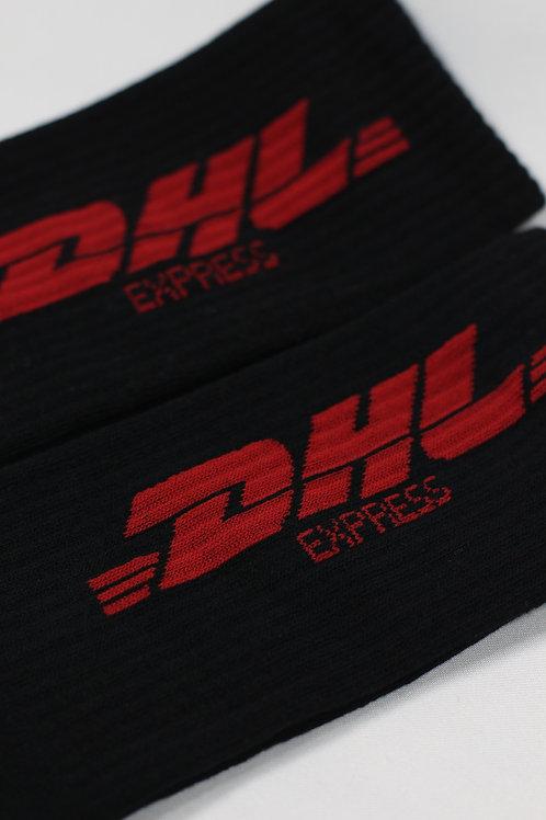 Unisex Siyah Dhl Express Uzun Spor Çorap 2026