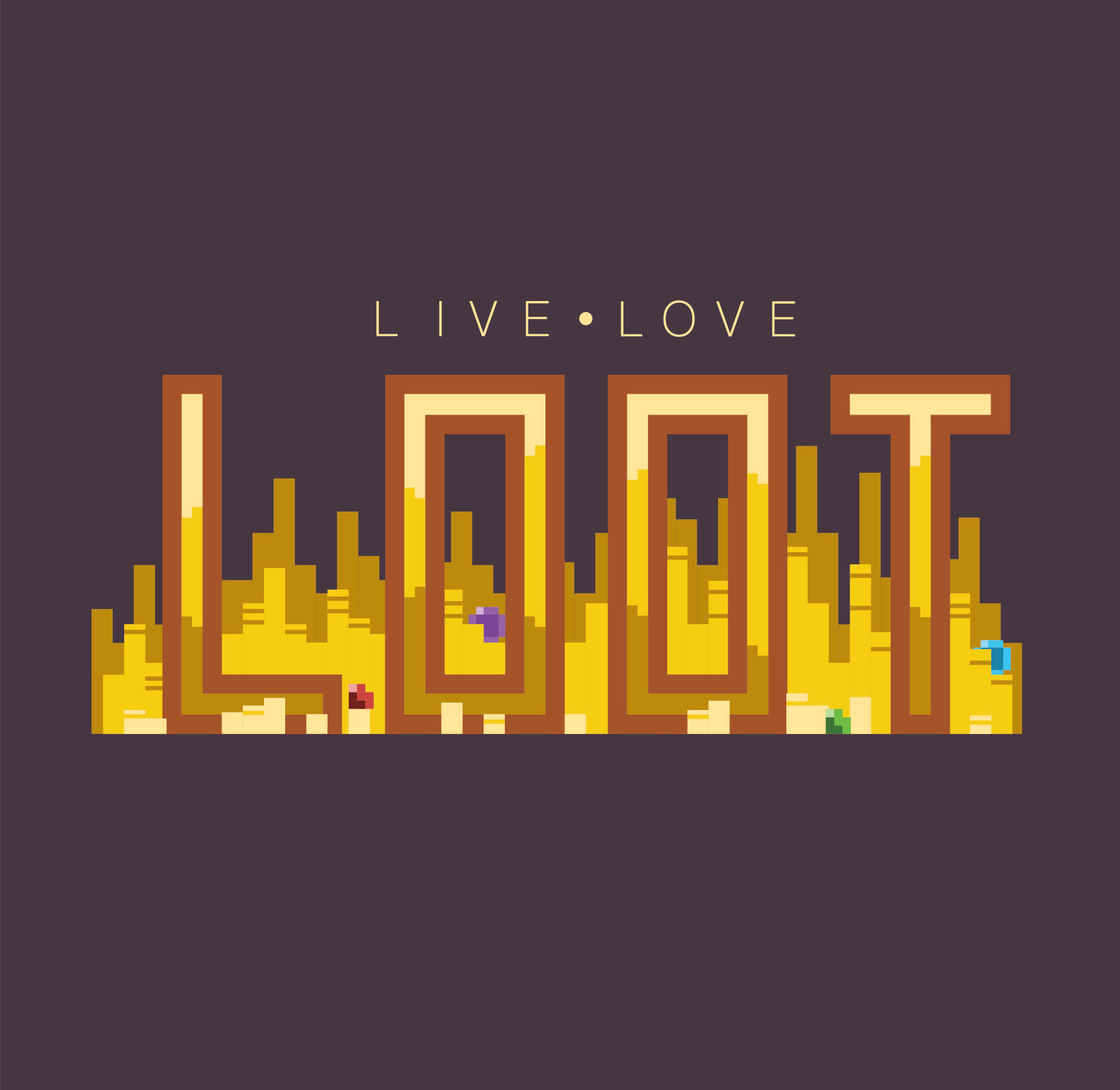 Live, Love, Loot Logo Design