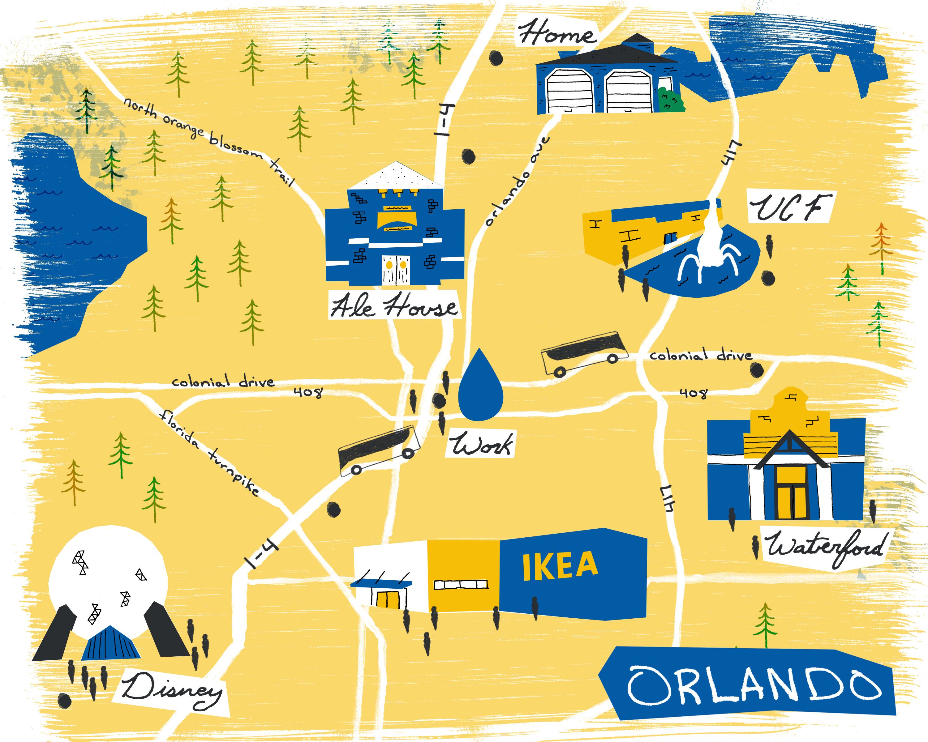 Illustrated Map of Orlando