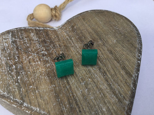 Square 7mm resin earrings