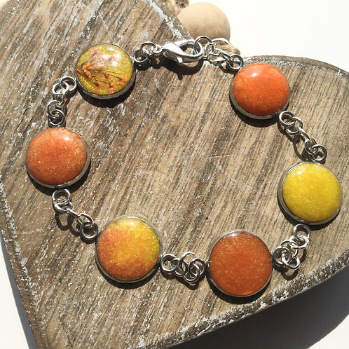 yellow and orange bezel bracelet