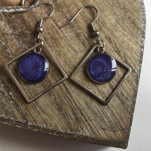 Diamond  shape drop earrings