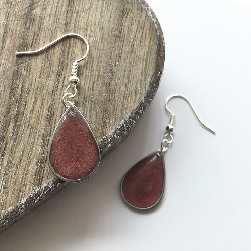 PALE ROSE TEARDROP EARRINGS