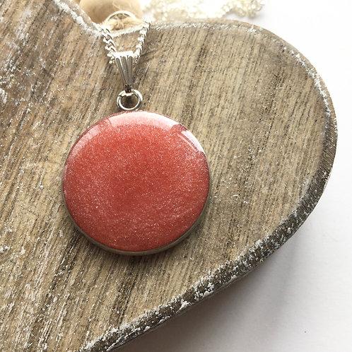 Mid pink shimmer pendant