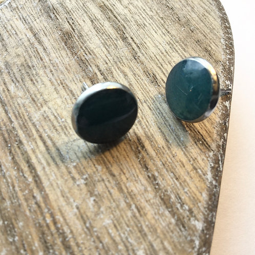 Petrol blue stud earrings