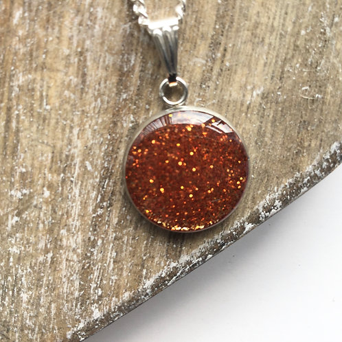 Orange sparkle pendant