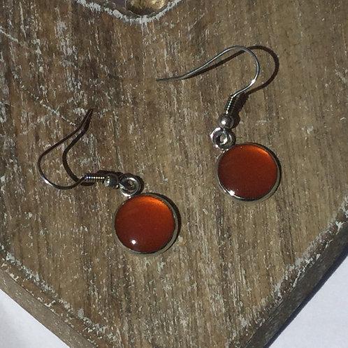 Amber 10mm drop earrings