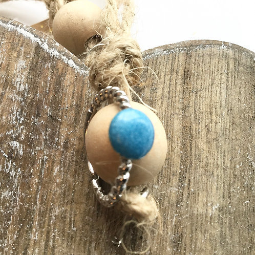 Twisted silver coloured sky blue resin stone ring