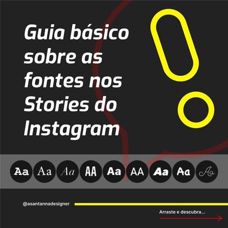 Guia básico sobre as fontes no Stories do Instagram