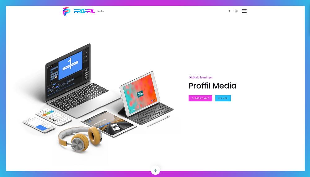 WEB side under utvikling