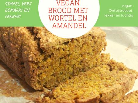 Vegan Brood met Wortel en Amandel