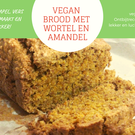 Vegan Brood met Wortel en Amandel