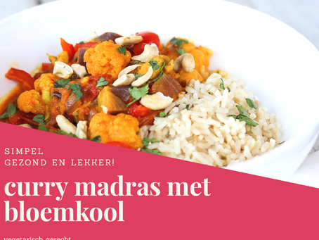 Curry Madras (met kipstuckjes)