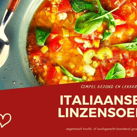 Italiaans Linzen Groentensoep