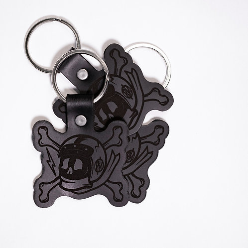 Genuine Leather Skull Driver Key Chain