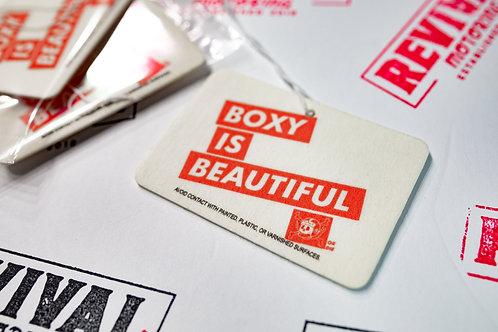 Boxy is beautiful air freshener.