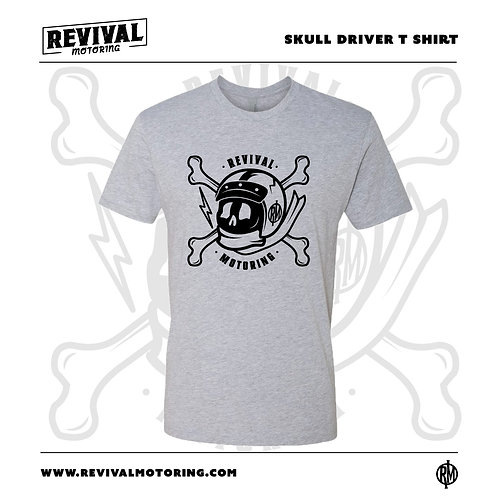 The Skull Driver Tee - Heather Grey