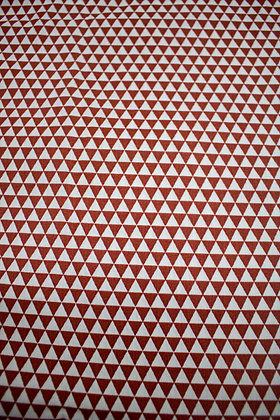 Tricoline estampa Geométrica Vermelho e Branco