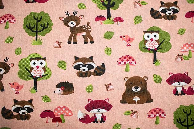 Tricoline Caldeira- Animais da floresta