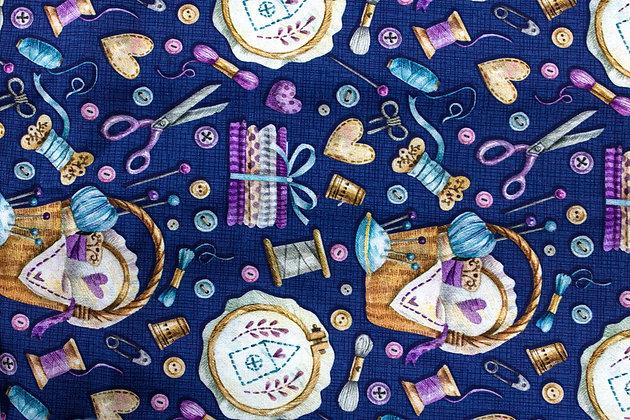 Tricoline - Fuxicos e Fricotes - Itens de Costura Marinho
