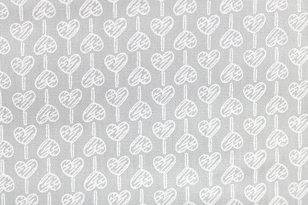 Tricoline - Pirulitos de Corações Cinza  - Fabricart