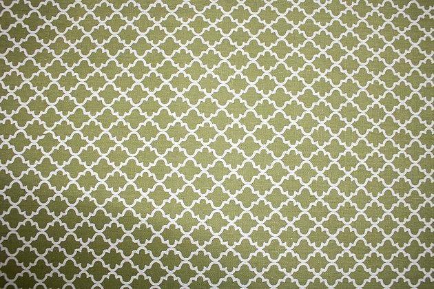 Tricoline Caldeira - Geométrico Verde e Branco