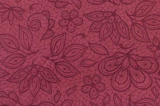 Tricoline - Floral Vermelho  - Fabricart