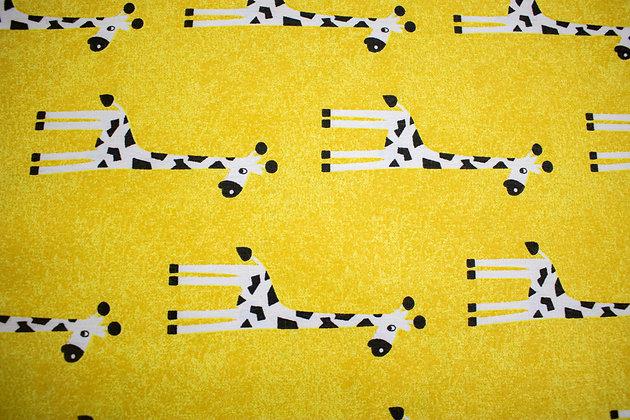 Tricoline - Amarelo - Estampa Girafinha