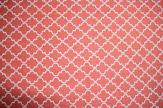 Tricoline geometrico - Rosa e Branco