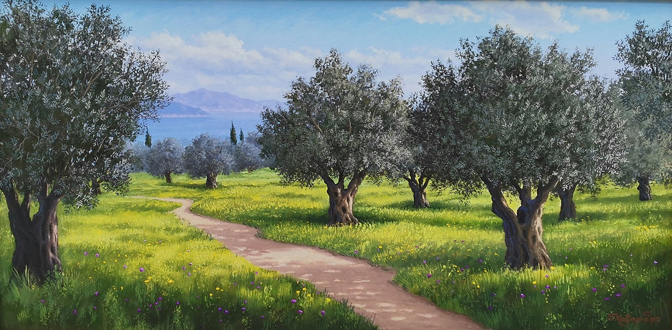 Olive Trees by Xazaridis Original Handpainted Oil On Canvas 60 X 120