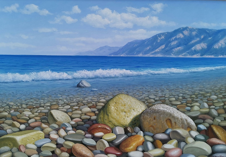 Rocks By Xazaridis Original Handpainted Oil On Canvas 80 X 100
