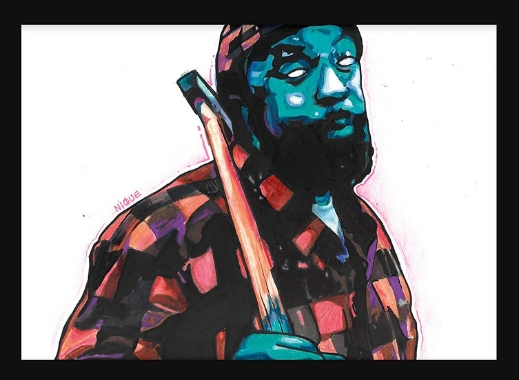 Sean P. By Nique® Original Handpainted MixedArt On Paper 21.0 x 29.7 Cm