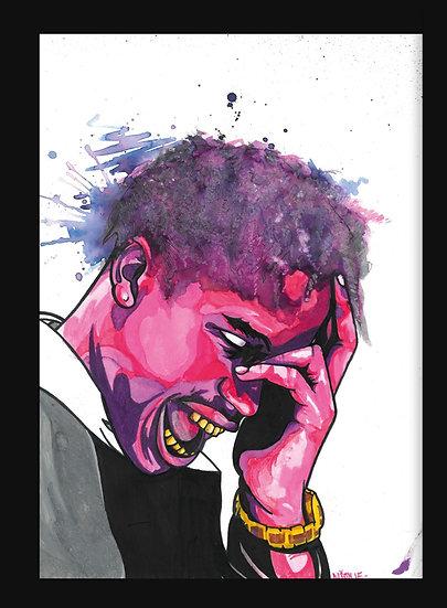 Travis Scott By Nique® Original Handpainted Mixed Art On Paper 29.7 x 42.0 Cm