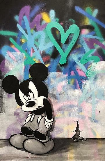 Mickey By M.Koan® Original Handpainted  Acrylic On Canvas  70 X 90