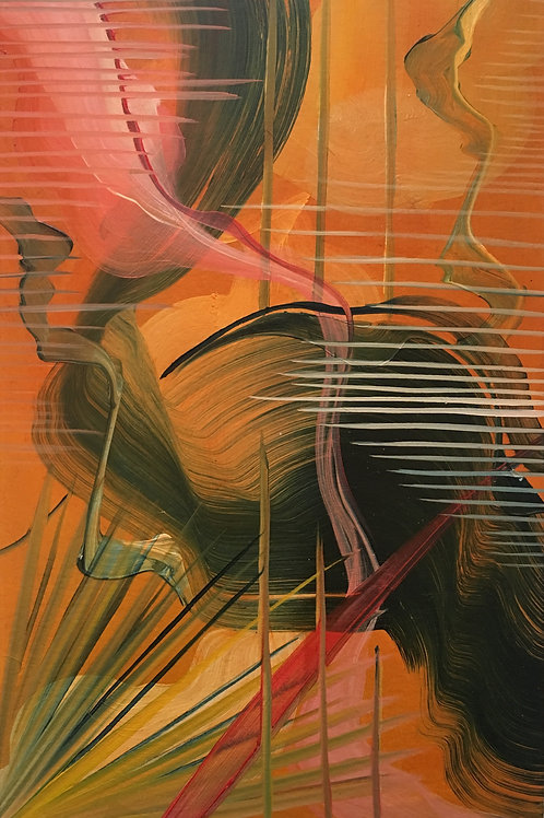 On Golden Sands - Oil on Paper - 21x29cm