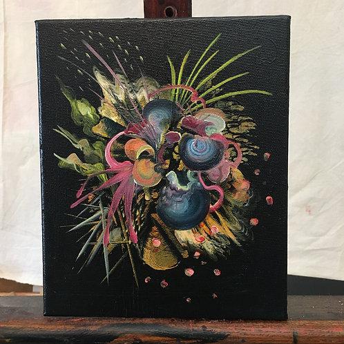 Purple Bouquet- oil on canvas