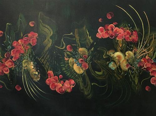 Danse Macabre - oil on canvas