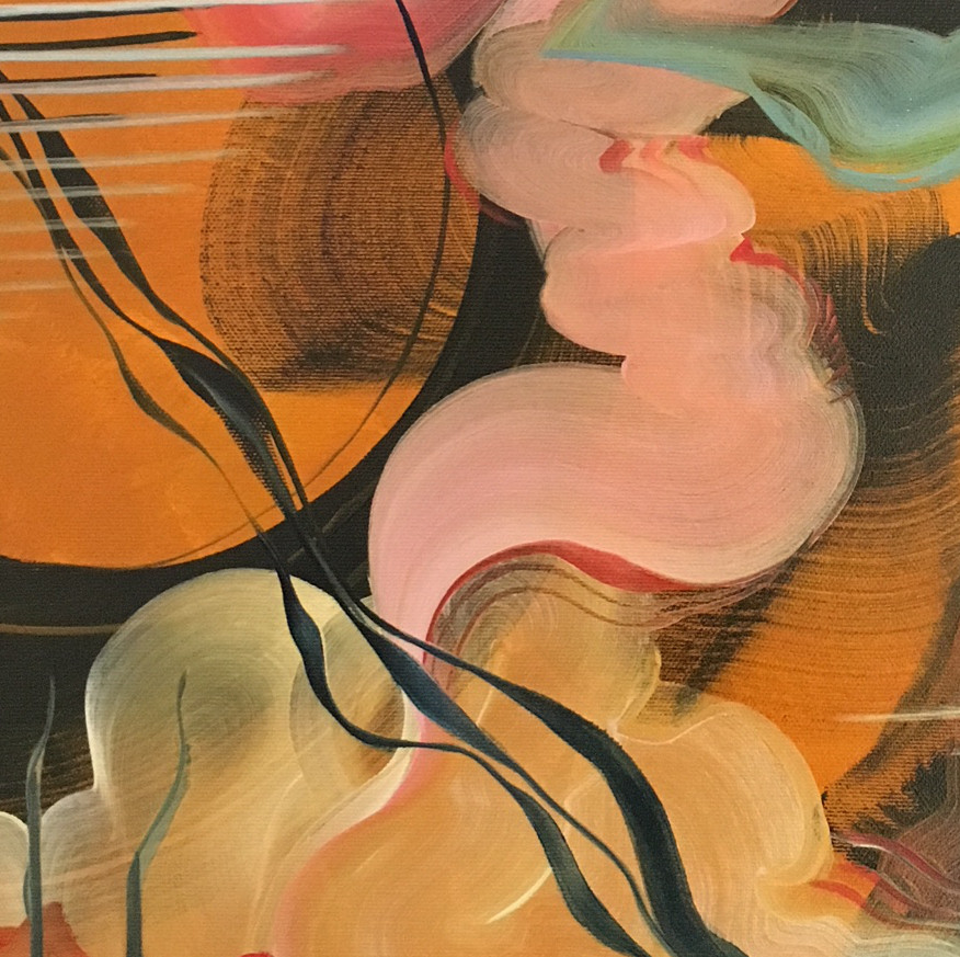 Detail from an Abstract Painting - The Golden Hour