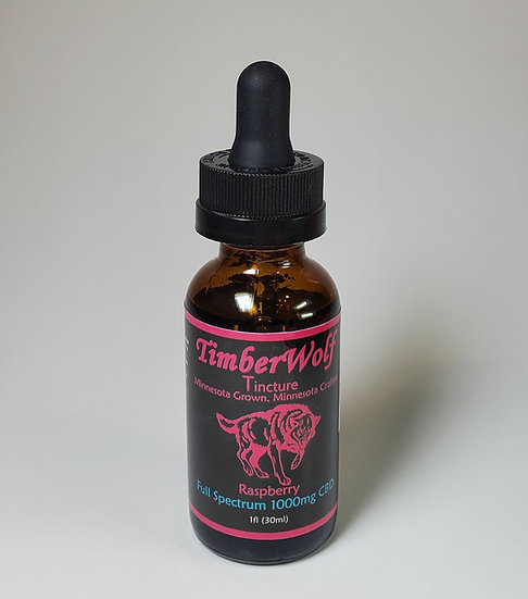 TimberWolf CBD Infused Oil 1000mg - Raspberry
