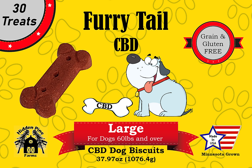 Furry Tail CBD Large Dog Biscuits